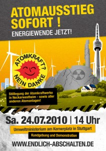 Flyer zur Demo am 24.07.2010 in Stuttgart